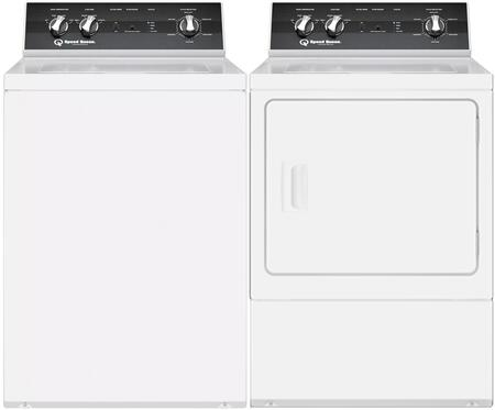 Top Load TR5003WN 26″ Washer with Front Load DR5000WG 27″ Gas Dryer Commercial Laundry Pair in