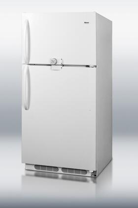 Summit  CTR15LLF2 Top Freezer Refrigerator White, 1