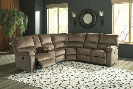 Signature Design by Ashley Urbino 57202767785 Sectional Sofa Brown, 57202 76 77 85