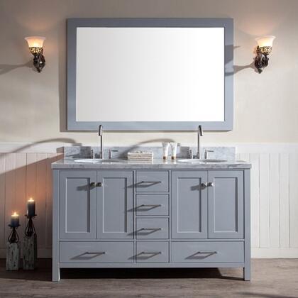 Ariel  A061DGRY Sink Vanity Gray, master ATLA168