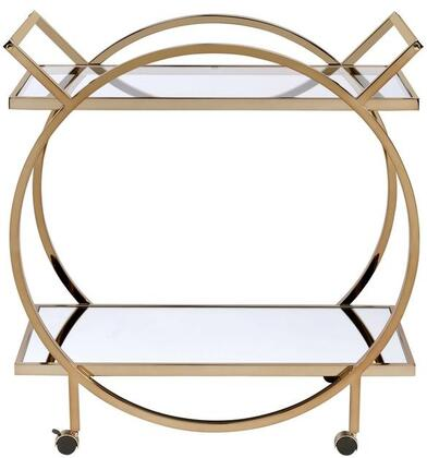 Acme Furniture Traverse 98295 Serving Carts Gold, Serving Cart