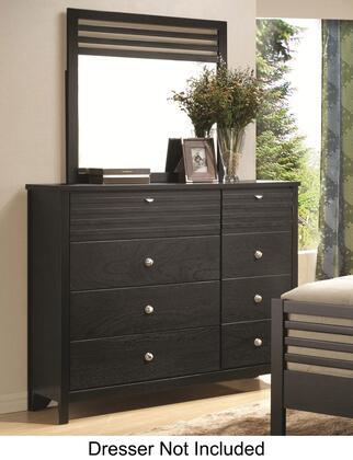 Coaster Richmond 202724N Mirror Black, Mirror Shown with Dresser