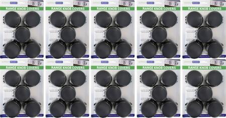 Set of 50 Transparent Black Range Knob Safety