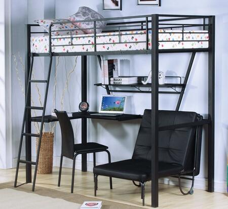 Acme Furniture Senon 37275BFBC Bedroom Set Black, 3 PC Set