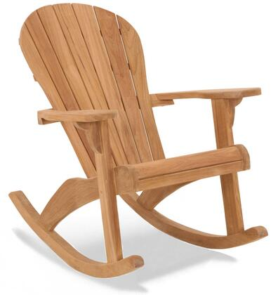 Seacoast Adirondack Collection DN-1514 Rocker with Teak Construction  Stainless Steel and Brass Hardware  Mortise and Tenon Joinery in Honey