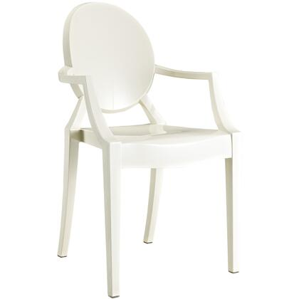 Modway Casper EEI121WHI Dining Room Chair White, 1