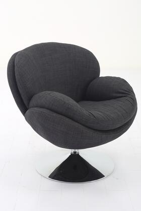 Strand Leisure Collection STRAND301200 Accent Chair with 360 Degree Swivel  Wing Arms  Padded Seat  All Steel Construction and Quality Fabric Cover