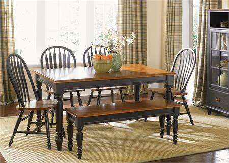 Liberty Furniture Low Country 80CD6RTS Dining Room Set Multicolor, Main Image