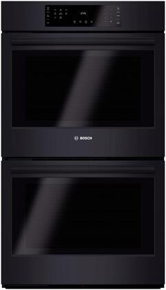 Bosch 800 Series HBL8661UC Double Wall Oven Black, Main image