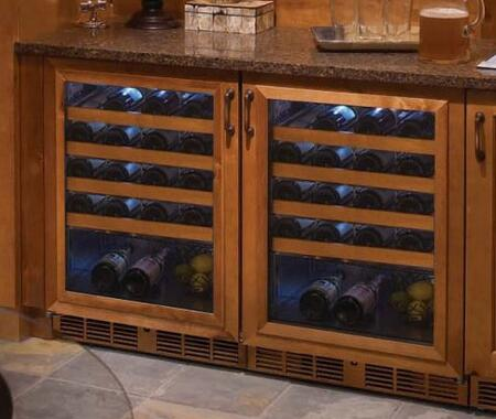 Perlick Signature 1443816 Wine Cooler 26-50 Bottles Panel Ready, 1