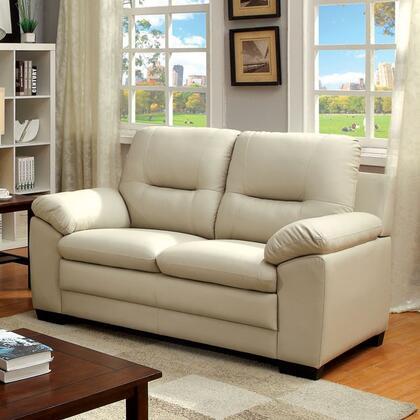 Furniture of America Parma CM6324IVLV Loveseat White, Main Image