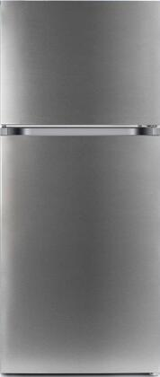 Avanti FF10B3S 24 Freestanding Top Freezer Refrigerator with 10 cu ft in Stainless Steel Total Capacity
