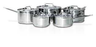 HOMSET010 Cookware Set Sauce Pans with Lids Stainless Steel 10 Pieces – (5 Pots and 5