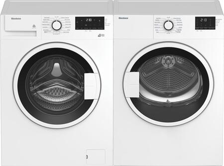 Compact Front Load White Laundry Pair with WM72200W 24″ Compact Washer and DV17600W 24″ Compact Electric