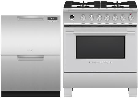 Fisher Paykel  1171967 Kitchen Appliance Package Stainless Steel, main image