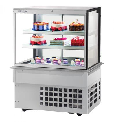 Turbo Air TBP4854FDN Display and Merchandising Refrigerator Stainless Steel, TBP4854FDN Angled View