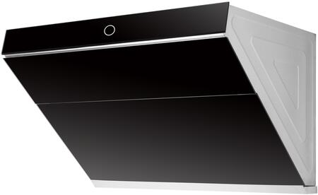 HL-300 30″ Modern Slanted Under Cabinet Range Hood with 1000 CFM  LED Lighting  Baffle Filters and Touch Controls in Onxy Black Tempered