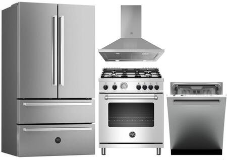 Bertazzoni 1054705 Kitchen Appliance Package & Bundle Stainless Steel, main image