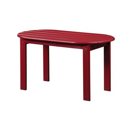 Linon 20154RED01KDU Outdoor Patio Table, 20154RED 01 KD U%20Adirondack%20Red%20Coffee%20Table