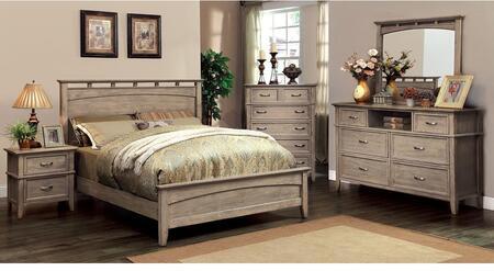 Furniture of America Loxley CM7351LKBDMCN Bedroom Set Brown, Main Image