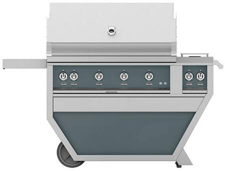 Hestan GABR42CX2NGDG Natural Gas Grill Gray, Front View