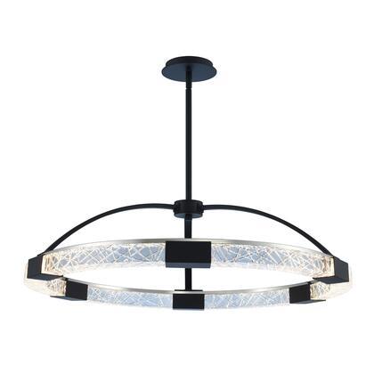 Athena 034851-051-FR001 32″ LED Pendant in Matte Black w/ Polished Nickel Finish with Firenze