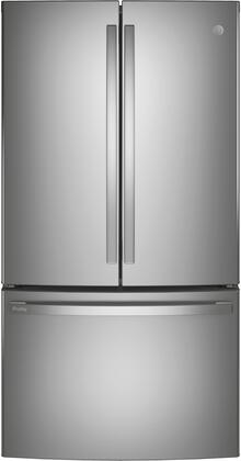 GE Profile PWE23KYNFS French Door Refrigerator Stainless Steel, PWE23KYNFS Front View