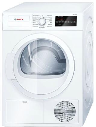 Bosch 300 Series WTG86400UC Electric Dryer White, Front View