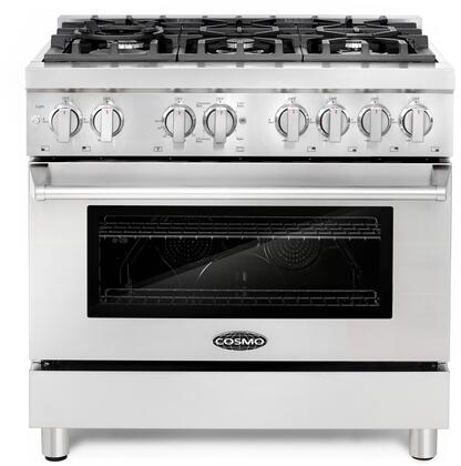 Cosmo COSDFR366 Freestanding Dual Fuel Range Stainless Steel, Main Image