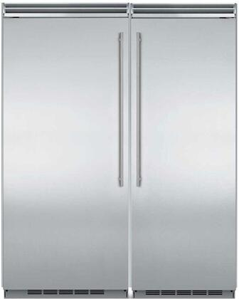 66″ Built in Side By Side Refrigerator Column Set with MP36RA2LS 36″ Left Hinge Column Refrigerator and MP30FA2RS 30″ Right Hinge Column Freezer in