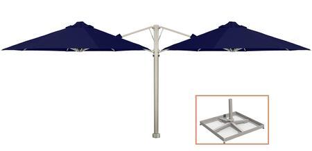 Shadowspec SU6 Series KITP6SQ25DUOPBBLUA Outdoor Umbrella Blue, Midnight Blue