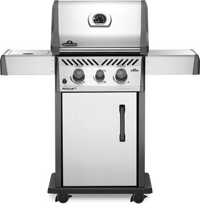 RXT365SIBNSS-1 48″ Rogue Series XT 365 SIB Natural Gas Freestanding Grill with 41000 BTU  590 sq. in. Cooking Area  Infrared Side Burner and Cast