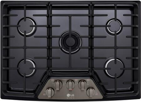 LG Studio LSCG307BD Gas Cooktop Black Stainless Steel, 1