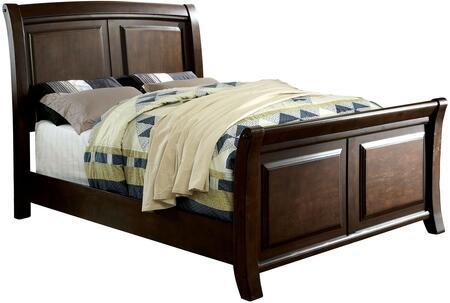 Furniture of America Litchville CM7383CKBED Bed Brown, 1