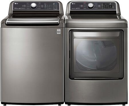 LG  1320918 Washer & Dryer Set Graphite Steel, 1
