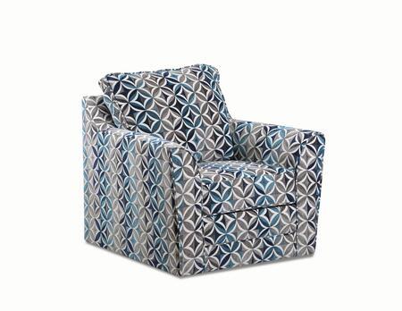 2013-01S-T Terrazzo Pacific 41″ Swivel Chair with Loose Back Cushion in Terrazzo