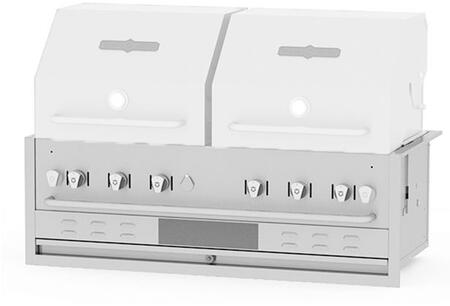 Crown Verity CVBI482 Commercial Outdoor Grill Stainless Steel, CVBI482 Side View