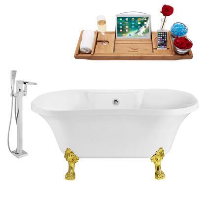 Streamline NH100GLDCH100 Bath Tub, NH100GLD CH 100 1T