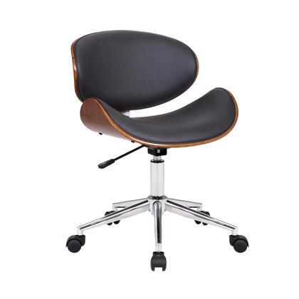 Armen Living Daphne LCDAOFCHGR Office Chair Gray, LCDAOFCHGR