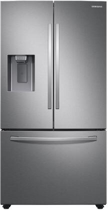 """RF27T5201SR 36"""" Stainless Steel French Door Refrigerator with 27 cu. ft. Total Capacity External Ice and Water Dispenser Energy Star EZ Open"""