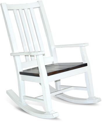 2016EC Slatback Rocker with Wood Seat-2 Tones  in European