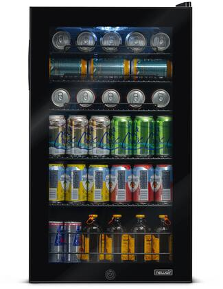 AB-1200B 19″ Freestanding Beverage Center with 126 Cans or 3.4 cu. ft. Capacity  Double Paned Glass Door  Interior LED Lighting  Metal Wire Rack