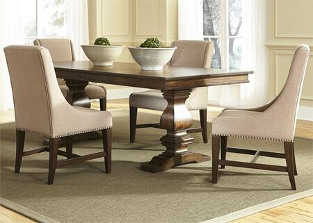 Liberty Furniture Armand 242DR5TRS Dining Room Set Brown, Main Image