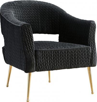 Meridian Monroe 696BLACKC Accent Chair Black, 696BLACK-C