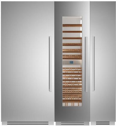Bertazzoni  1309143 Column Refrigerator & Freezer Set Stainless Steel, 1