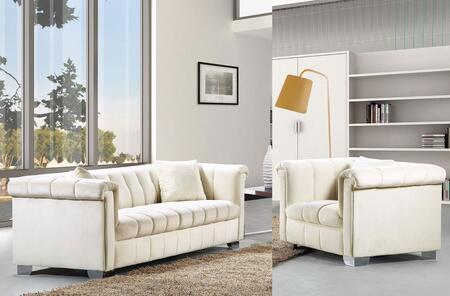 Meridian Kayla 6152PCARMKIT4 Living Room Set Beige, 2 PC Set