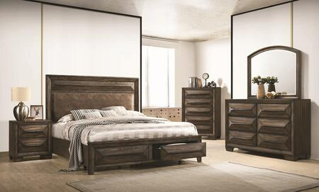 Coaster Preston 205440Q5SET Bedroom Set Brown, Bedroom Set