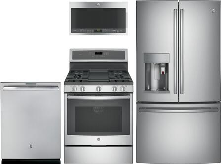 GE Profile 714823 4 piece Stainless Steel/Gray Kitchen Appliances Package