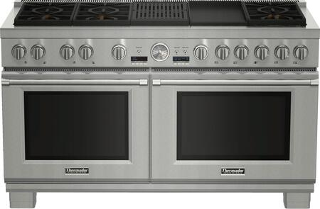 Thermador Pro Grand PRD606RCG Slide-In Dual Fuel Range Stainless Steel, PRD606RCG 60-Inch Commercial Depth Dual Fuel Range