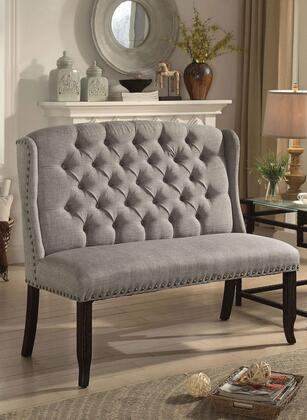 Furniture of America Sania III CM3324BKLGBN Bench Gray, Main Image